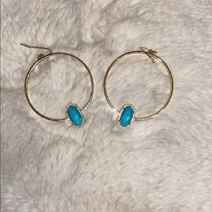 Kendra Scott Elora Hoops - Turquoise